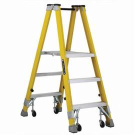 Louisville® Platform Stepladder, Heavy Duty Mechanic Twin Front, Series: FMP2000, 3 ft Ladder Height, 14-3/8 in Platform Width, 17 in Platform Depth, 2 ft 10 in Platform Height, 250 lb, 23-3/4 in Bottom Width, 46-1/4 in Base Spread, 3 Steps, 3 in Step De