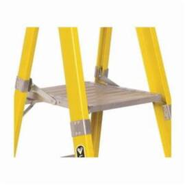Louisville® Platform Stepladder, Type IAA, Series: FP1100HD, 6 ft Ladder Height, 15 in Platform Width, 17 in Platform Depth, 375 lb, 27-3/8 in Bottom Width, 52-1/3 in Base Spread, 6 Steps, 3 in Step Depth, Non-Slip Tread, ANSI Code: A14.2, Fiberglass