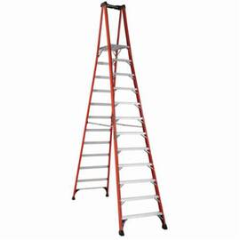 Louisville® Platform Stepladder, Extra Heavy Duty Non-Conductive Professional, Series: FXP1800HD, 12 ft Ladder Height, 14-1/2 in Platform Width, 21-1/4 in Platform Depth, 11 ft 5 in Platform Height, 375 lb, 36-3/4 in Bottom Width, 101-1/2 in Base Spread,