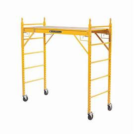 Louisville® Scaffold Tower, Rolling, Series: ST Series, 74 in Length, 29-5/8 in Width, 68-7/8 in Height, 1000 lb, 28-3/4 in Platform Width, 5 ft 8 in Platform Height, Steel, 6 ft Work Height, Yellow