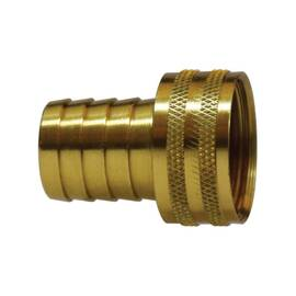 Midland Metal 30468 Short Shank Hose Swivel Adapter, 3/4 In, Barb X Fgh, Brass, Import