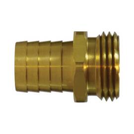 mmm 30473 Short Shank Hose Swivel Adapter, 3/4 In, Barb X Mgh, Brass, Import