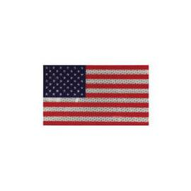MMM 95628 Type IV Hip American Flag Sticker, 6-1/2 in L X 3-3/4 in W, Microprismatic Reflective