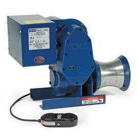 MY-TE® Electric Winch Hoist, Utility Capstan, 800 lb Single Line/1600 lb Double Line Load, 208 VAC, 19 A, 12 in L x 14 in W x 22 in H