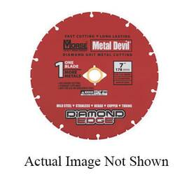 M.K. Morse® 102001 Metal Devil™ Diamond Circular Saw Blade, 4-1/2 In Blade, 7/8 In, 5/8 In, 0.05 In W