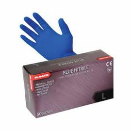 MAJESTIC GLOVE 3277/9 NON-STERILE PREMIUM SINGLE USE DISPOSABLE GLOVES, SZ 9, NITRILE, BLUE, 9 IN L, NON-POWDERED, TEXTURED FINGER TIP, 8 MIL THK, APPLICATION TYPE: EXAM GRADE, AMBIDEXTROUS HAND