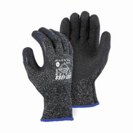 Majestic Glove 34-1570 Cut-Less Cut-Resistant Glove, Heavy Duty, Dyneema®/Nylon/Spandex®, ANSI/ISEA Cut Level: A4, Abrasion/Cut/Puncture/Tear, Latex Coating, Black