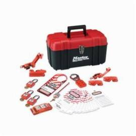 Master Lock® 1457E410Ka Personal Safety Lockout Kit, 24 Pieces, Red