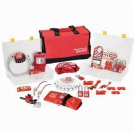 Master Lock® 1458Ve410 Safety Lockout Kit, 53 Pieces, Red