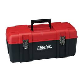 MASTER LOCK® S1023 UNFILLED PERSONAL LOCKOUT TOOLBOX, RED, 254 MM H X 571 MM W X 254 MM D