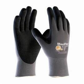 PIP® 34-844 Maxiflex® Endurance™ Palm and Fingers Coated Glove, Nylon Palms, Abrasion/Cut/Puncture/Tear Resistant, 8-1/2 in Length, Black/Gray