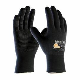 ATG® MAXIFLEX® ENDURANCE™ 34-8745/S GENERAL PURPOSE GLOVES, COATED, S, MICROFOAM NITRILE PALM, 15 GA NYLON, BLACK, KNIT WRIST CUFF, MICROFOAM NITRILE COATING, RESISTS: ABRASION, CUT, PUNCTURE AND TEAR, NYLON/LYCRA® LINING, SEAMLESS KNIT