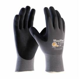 ATG® MAXIFLEX® ULTIMATE™ 34-874/XXS GENERAL PURPOSE GLOVES, COATED, 2XS, MICROFOAM NITRILE PALM, 15 GA NYLON, BLACK/GRAY, CONTINUOUS KNIT WRIST CUFF, MICROFOAM NITRILE COATING, RESISTS: ABRASION, CUT, PUNCTURE AND TEAR, NYLON/LYCRA® LINING, SEAMLESS