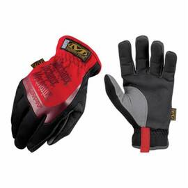 MECHANIX WEAR® MFF-02-011 FASTFIT® MFF GENERAL PURPOSE GLOVES, WORK, FULL FINGER/KEYSTONE THUMB STYLE, XL/SZ 11, SYNTHETIC LEATHER PALM, NYLON/SPANDEX® PADDED, RED, SHIRRED ELASTIC CUFF, PADDED SPANDEX® LINING