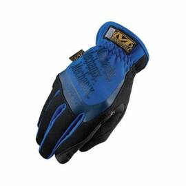 MECHANIX WEAR® MFF-03-008 FASTFIT® MFF GENERAL PURPOSE GLOVES, WORK, FULL FINGER/KEYSTONE THUMB STYLE, SZ 8/S, SYNTHETIC LEATHER PALM, NYLON/SPANDEX® PADDED, BLUE, SHIRRED ELASTIC CUFF, PADDED SPANDEX® LINING