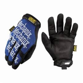 Mechanix Wear®  Utility Gloves, All Purpose, Series: The Original Mg, Sz 10/L, Synthetic Leather/Spandex® Palm, Nylon, Blue, Full Finger/Seamless/Wing Thumb, Foam Padding, Hook And Loop Closure