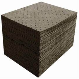 Meltblown GSMF100 3-Ply Heavyweight Spunbond Absorbent Pad, 18 in L X 15 in W, 22.43 gal/Bale Absorption, Fine Fiber