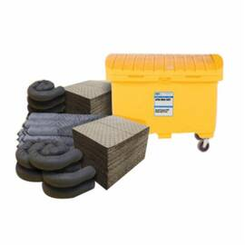 MELTBLOWN HZSK-MOB-CART HAZMAT MOBILE CART SPILL KIT, 126 GAL BIN, FLUIDS ABSORBED: UNIVERSAL