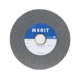 Merit® 05539512598 Convolute Non-Woven Abrasive Wheel, 6 In Dia X 1 In Thk, 1 In, Fine, Silicon Carbide Abrasive