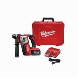 Milwaukee® 2612-21 M18™ Cordless Rotary Hammer Drill Kit, 5/8 In Keyless/Sds Plus Chuck, 18 Vdc, 1300 RPM No-Load, Lithium-Ion Battery