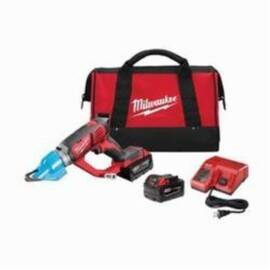Milwaukee® 2636-22 M18™ Double Cut Cordless Shear Kit, 16 Ga Stainless Steel, 14 Ga Steel Cutting, 2300 SPM, 15.2 In OAL, Lithium-Ion Battery