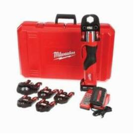 Milwaukee® 2673-22 M18™ Forcelogic™ Press Tool Kit, 1/2 To 4 In Copper/1/2 To 1 In Stainless Steel, 7200 Lb, 18 V, M18™ Redlithium™ Battery