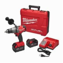 Milwaukee® 2804-22 M18 Fuel™ Cordless Hammer Drill/Driver Kit, 1/2 In Keyless Chuck, 1200 In-Lb Torque, 18 Vdc, Lithium-Ion Battery