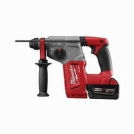 Milwaukee® 2712-22De M18™ Fuel™ Cordless Rotary Hammer Drill Kit, 1 In Keyless/Sds Plus Chuck, 18 Vdc, 1400 RPM No-Load, Lithium-Ion Battery