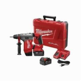 Milwaukee® 2715-22 M18™ Fuel™ Cordless Rotary Hammer Drill Kit, 1-1/8 In Keyless/Sds Plus Chuck, 18 Vdc, 1350 RPM No-Load, Lithium-Ion Battery