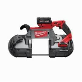 Milwaukee® 2729-22 M18™ Fuel™ Cordless Band Saw Kit, 5 In Cutting, 44.875 In L X 0.5 In W X 0.02 In Thk Blade, 18 Vdc, 5 Ah Li-Ion Battery