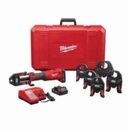 Milwaukee® M18™ Force Logic™ 2773-22 Press Tool Kit With 1/2 To 2 In Jaws, 1/2 To 4 In, 18 Vdc, M12™ Redlithium™ Lithium-Ion Battery