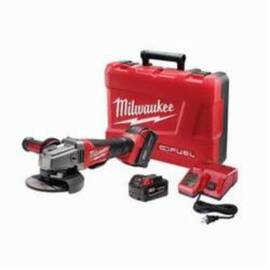 Milwaukee® 2780-22 M18™ Fuel™ Cordless Grinder Kit, 5 In Dia Wheel, 5/8-11 Arbor/Shank, 18 Vdc, Lithium-Ion Battery, 2 Batteries, Paddle No-Lock Switch
