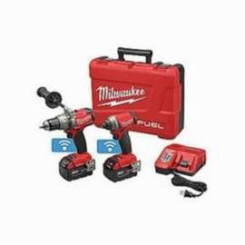 Milwaukee® 2795-22 M18 Fuel™ 2-Tool Cordless Combination Kit With One-Key™ Mobile App, Tools: Drill, Impact Driver, 18 V, 5 Ah Lithium-Ion, Keyless Blade
