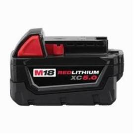 Milwaukee® 48-11-1850 M18™ Rechargeable Cordless Battery Pack, 5 Ah Li-Ion Battery, 18 Vdc, For Use With Milwaukee® M18™ Cordless Power Tools, Bare Tool