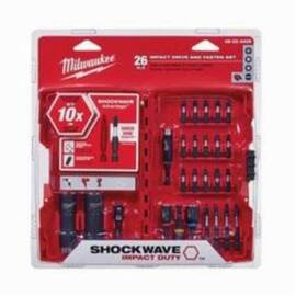 Milwaukee® Shockwave™ 48-32-4408 Drive And Fasten Set, Imperial, 26 Pieces