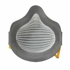 MOLDEX® 4700N100 AIRWAVE® 4700 DISPOSABLE PARTICULATE RESPIRATOR WITH VENTEX® VALVE AND FULL FOAM FACESEAL, M/L, RESISTS: HEAT, FLAME AND NON-OIL BASED PARTICULATES