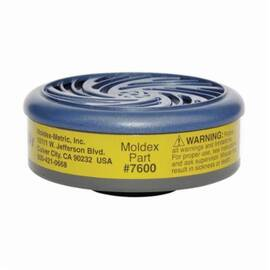 Moldex® 7600 Chemical Cartridge, For Use With 7600 Multi-Gas/Vapor Smart® Assembled Respirators, Multi-Gas, Vapor, N95/R95/P100