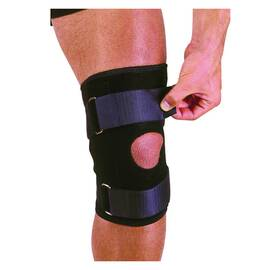 Mutual 1075520-00 Knee Stabilizer With Straps, Universal, Neoprene, Black, Dual Strap/Hook and Loop Closure