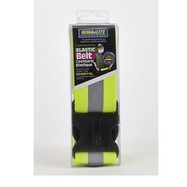 Mutual 14509-0-4 Reflective Personal Protection Waistband, 2 X 39 In, Elastic, Lime/Silver/Lime, Adjustable Buckle Closure