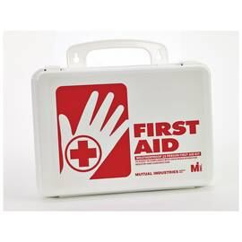 MUTUAL 50002-00 WEATHERPROOF FIRST AID KIT, PLASTIC CASE