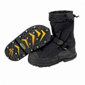 NEOS® BY HONEYWELL NEOS® VOYAGER™ VNS1HEEL-BLK-LRG WATERPROOF OVERSHOES WITH HEEL, MEN'S, L FITS SHOE, PLAIN TOE, BLACK, NYLON UPPER & MIDSOLE, STABILICERS® OUTSOLE, RESISTS: SLIP, SPECIFICATIONS MET: ANSI Z41-1991, OSHA 1910.136