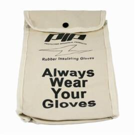 Novax® 148-6011 Protective Bag, Snap Closure, For Use With 11 In Insulating Gloves, Cotton Canvas, Natural With Black Lettering