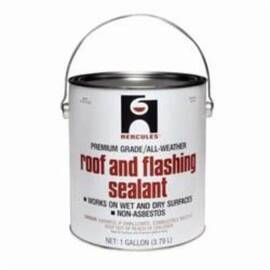 HERCULES® 25410 PREMIUM ROOF AND FLASHING SEALANT, 1 GAL CAN CONTAINER, BLACK