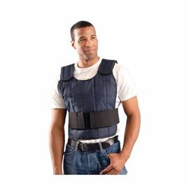 OccuNomix Miracool® Pc-Vv-Nn Expandable Cooling Vest With Cooling Pack, Universal, Navy, Nylon, 32 To 48 In Chest, 4 Hr At 65 Deg F Cooling