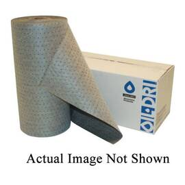 OIL-DRI® L90540 BONDED HEAVY DUTY PERFORATED UNIVERSAL ABSORBENT ROLL WITH STOCK COVER, 150 FT L X 30 IN W, 56 GAL ABSORPTION CAPACITY, MELTBLOWN POLYPROPYLENE