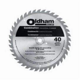 Oldham® 10040Tp Combination General Purpose Circular Saw Blade, 10 In Dia X 0.07 In Thk, 5/8 In Arbor, Steel Blade, 40 Teeth