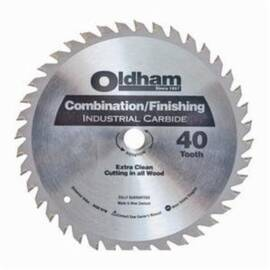Oldham® B7254740-10 Combination General Purpose Circular Saw Blade, 7-1/4 In Dia X 0.06 In Thk, 5/8 In Arbor, Steel Blade, 40 Teeth