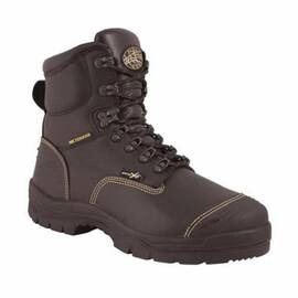 OLIVER BY HONEYWELL 55246-BLK-095 HEAVY METAL WORK BOOTS, MEN'S, SZ 9.5, 6 IN H, STEEL TOE, FULL GRAIN LEATHER UPPER, RUBBER OUTSOLE, RESISTS: ABRASION, CUT, PUNCTURE, IMPACT, SLIP, WATER AND OIL, SPECIFICATIONS MET: ASTM F2413-11 M I/75 C/75 MT/75 PR EH