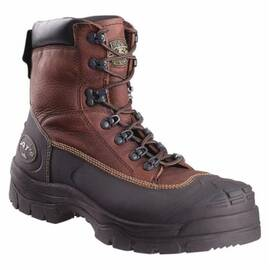 OLIVER BY HONEYWELL 65394-BRN-085 NON-INSULATED WORK BOOTS, MEN'S, SZ 8.5, 6 IN H, STEEL TOE, LEATHER UPPER, RUBBER OUTSOLE, RESISTS: CHEMICAL, CHAINSAW CUT, PUNCTURE, LIQUID, SLIP AND WATER, SPECIFICATIONS MET: ASTM F2413-11 M I/75 C/75 PR EH