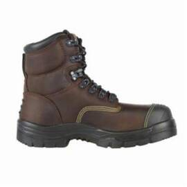 OLIVER BY HONEYWELL 55231-BRN-105 WORK BOOTS WITH PADDED COLLAR AND TONGUE, MEN'S, SZ 10.5, 6 IN H, STEEL TOE, LEATHER UPPER, RUBBER OUTSOLE, RESISTS: ABRASION, CUT, LIQUID, IMPACT AND SLIP, SPECIFICATIONS MET: ASTM F2413-11 M I/75 C/75 SD